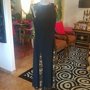 A.J. BARI DRESS WITH SHEER COVER WOMENS SIZE 12